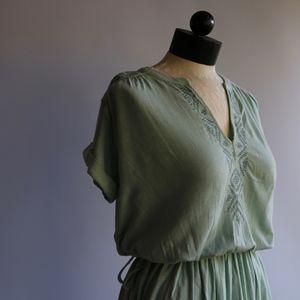 NWT Roxy Lucky Star Knit Dress Green Size Small